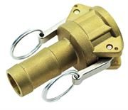 Vale® Brass Type C Hose Tail Lever Coupling