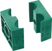 RSB® Twin Smooth Tube Clamp Jaws Polypropylene