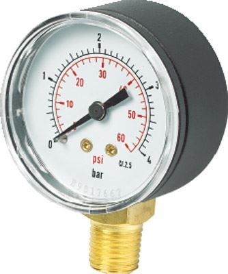 Vale® 63mm Bottom Connection Vacuum Gauge BSPT
