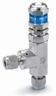 Ham-Let® H-900HP relief valve with 6mmOD, Let-Lok® connection and CE certificate