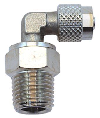 Vale® Rapid Push Over male swivel elbow BSPT