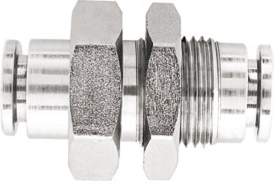 Vale® Stainless Steel Push-In equal bulkhead
