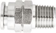 Vale® Stainless Steel Push-In male stud coupling BSPT