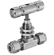 Stainless steel Ham-Let® H-300U One-Lok® needle valve with PCTFE stem