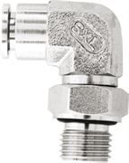 Vale® Stainless Steel Push-In male stud elbow BSPP