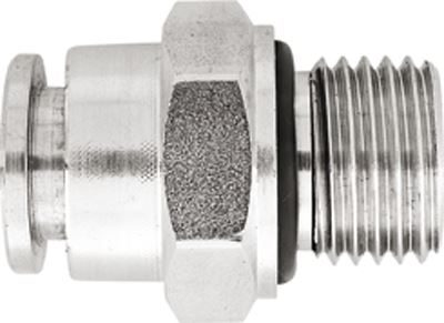Vale® Stainless Steel Push-In male stud coupling BSPP