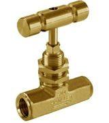 Brass Ham-Let® H-310U oxygen clean female needle valve with regulating stem