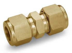 Ham-Let One-Lok® imperial brass single ferrule tube fittings with Indanc