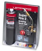 Rothenberger Super Fire 2 Brazing Torch with Propane Cylinder