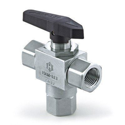 Ham-Let H-6800 Three-Piece Ball Valve with CST Angle