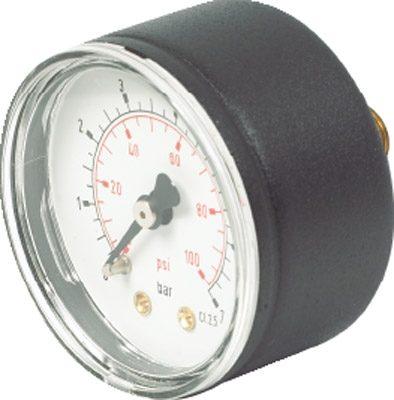 Vale® 40mm Centre Back Panel Mounted Pressure Gauge BSPP