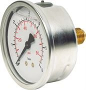Vale® 63mm Centre Back Connection Pressure Gauge BSPP