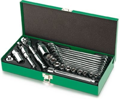"""Toptul® 27 Piece 3/8"""" Dr. Socket Wrench Set"""