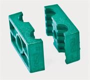 RSB® Twin Tube Clamp Jaws Polypropylene